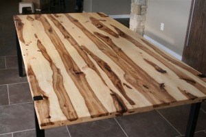 Hickory Logs Milled And Made Into Custom Dining Table G