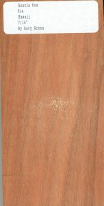 Acacia Koa Hawaiian Wood Sample