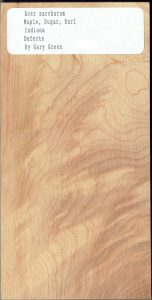 Acer Sacharum Maple Sugar Burl Indiana Defects