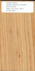 Castanea Dentata Chestnut American-REclaimed N Carolina Wormy Nails