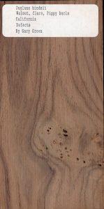 Juglans Hindsii Walnut Claro-Pippy Burls California Defects